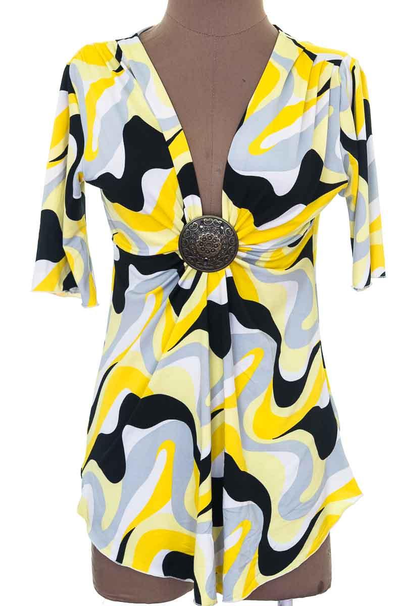 Blusa Casual color Amarillo - Closeando