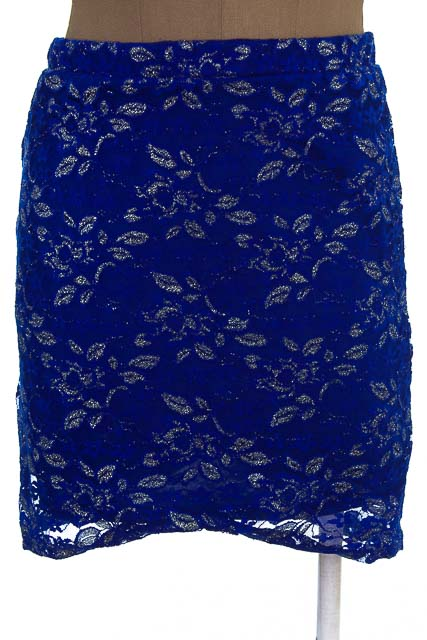 Falda Casual color Azul - Forever 21