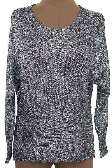Sweater color Plateado - ELA
