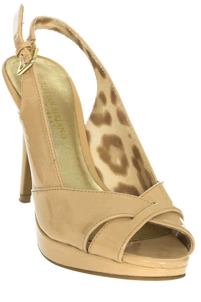 Zapatos Sandalia color Beige - Christian Siriano
