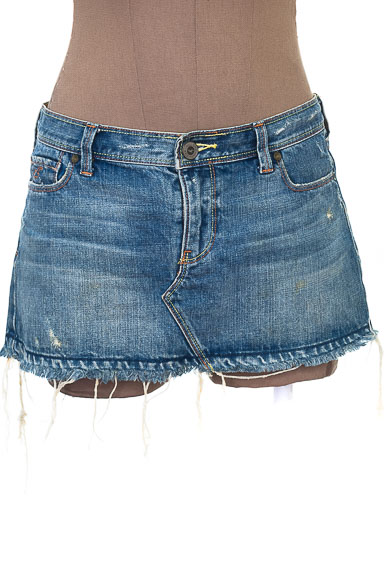 Falda Jean color Azul - Hollister