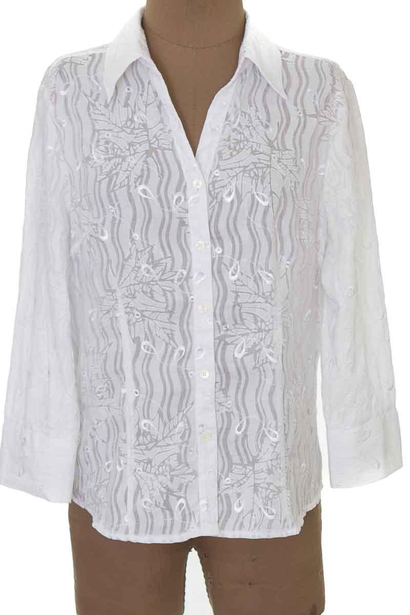 Blusa color Blanco - Fred David