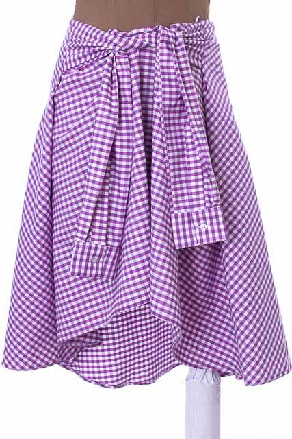 Falda Elegante color Lila - VICTOR DEL PERAL