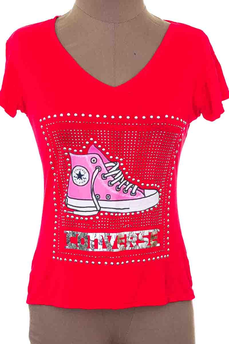 Top / Camiseta color Rojo - Moda Doble Angel