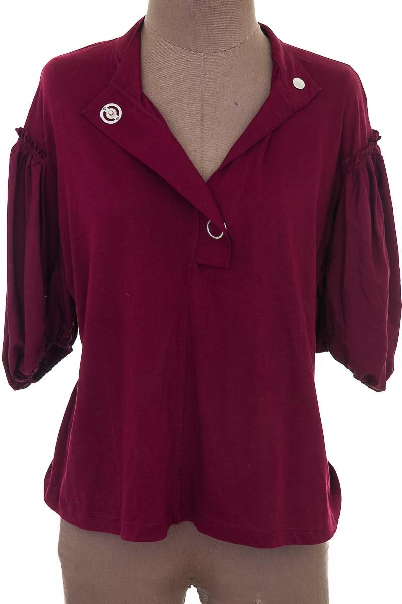 Blusa color Vinotinto - Zara