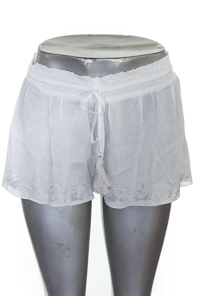 Short Casual color Blanco - Onda de mar
