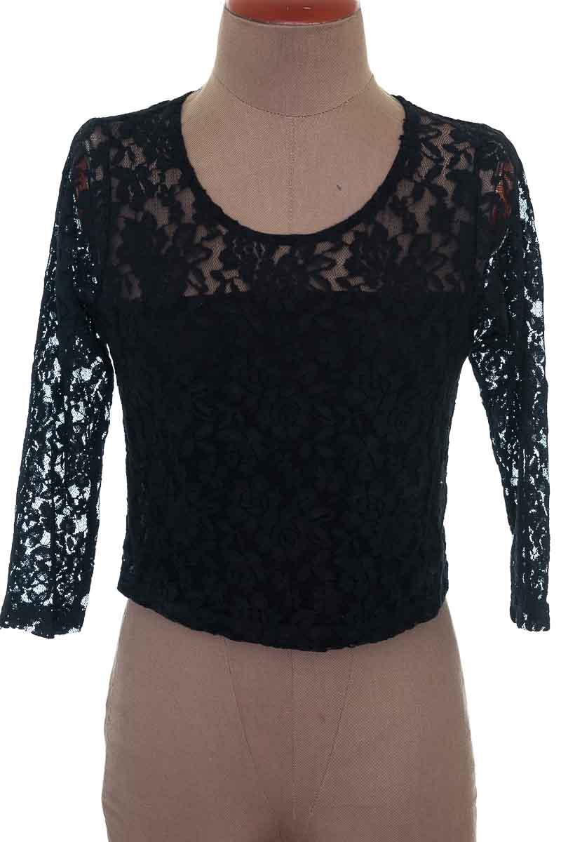Blusa Formal color Negro - Stradivarius