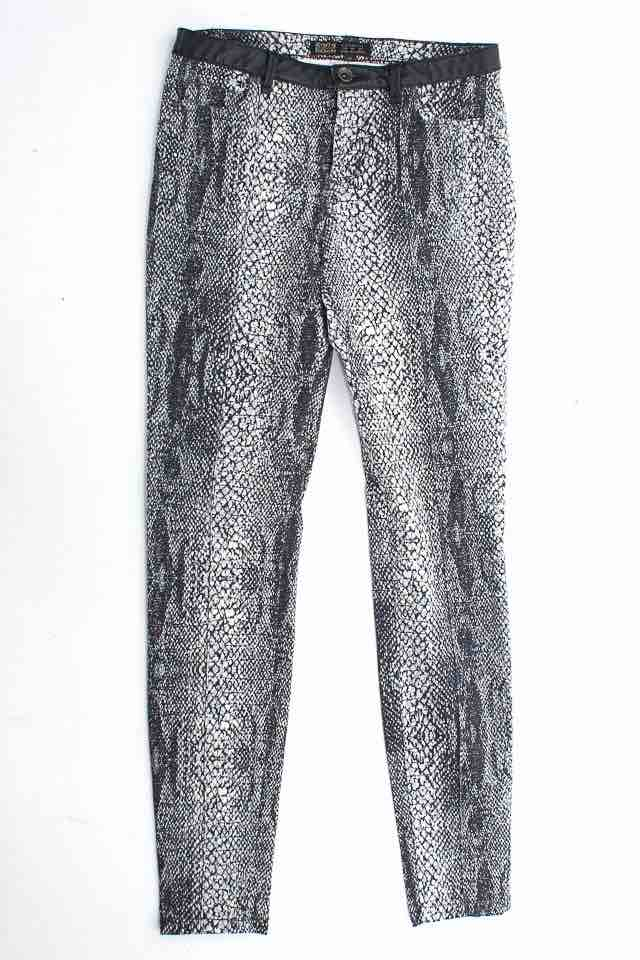 Pantalón Jeans color Estampado - Zara