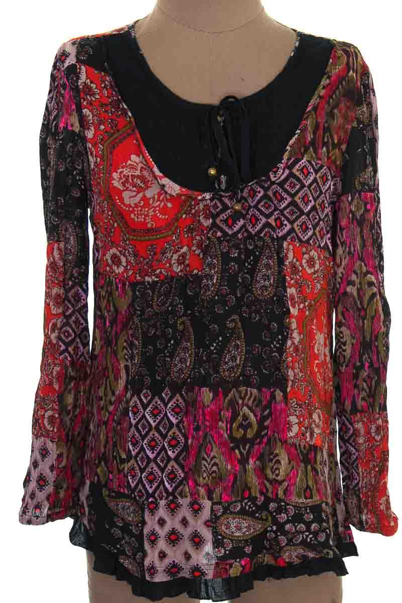 Blusa color Estampado - Dressbarn