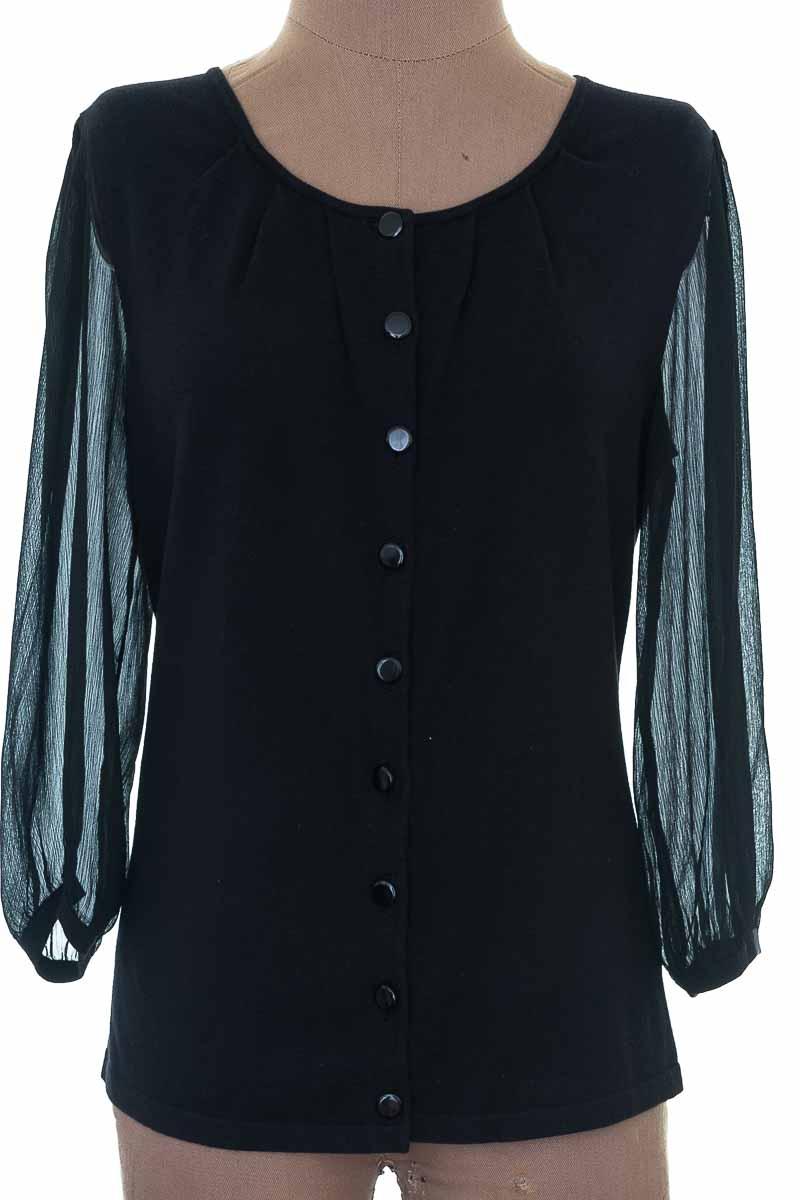 Blusa color Negro - Anne Klein