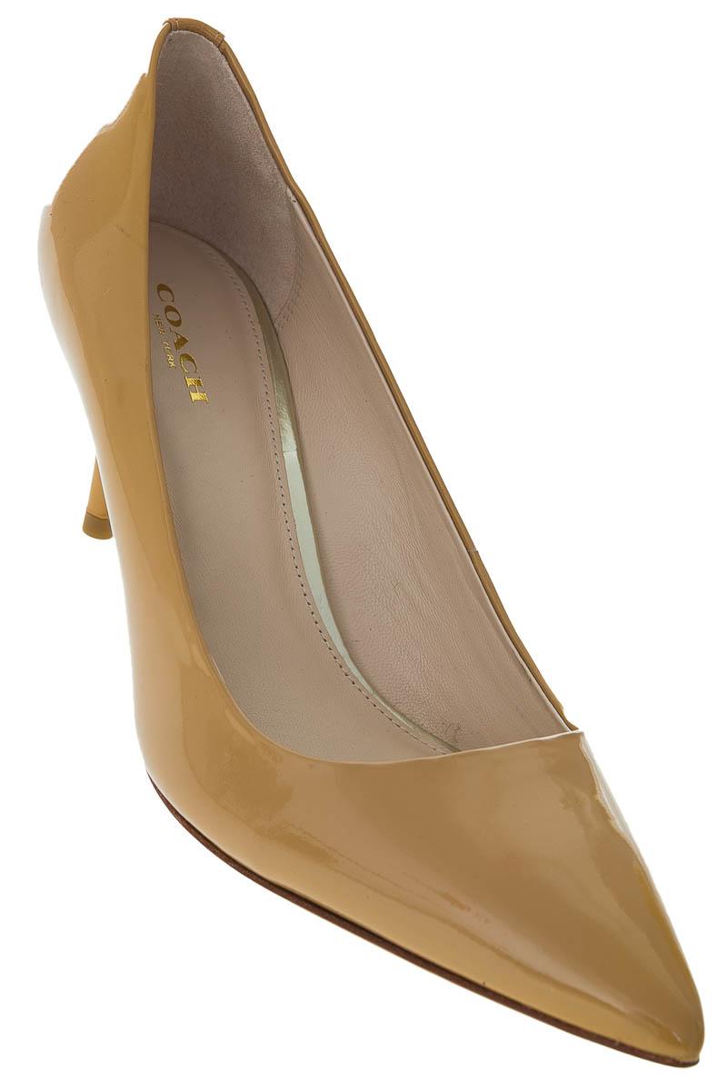 Zapatos Tacón color Mostaza - Coach