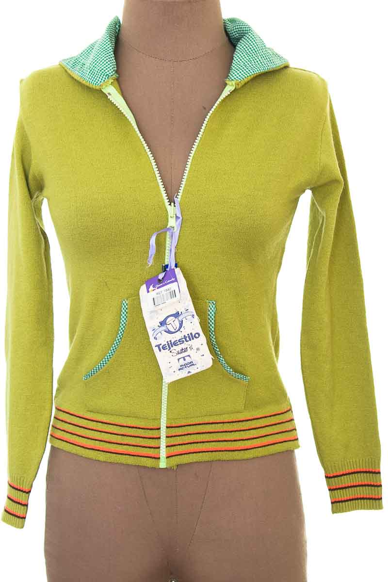 Sweater color Verde - Tejiestilo