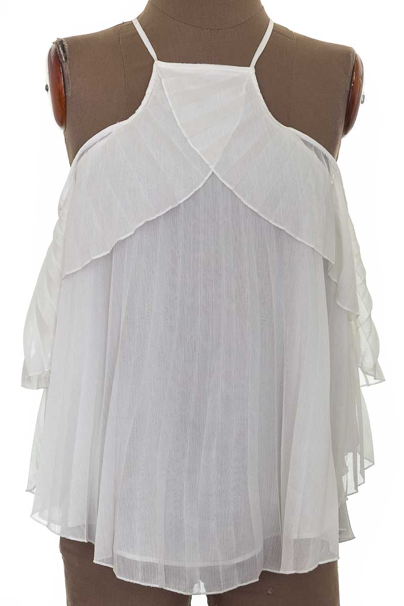Blusa Casual color Blanco - Stradivarius
