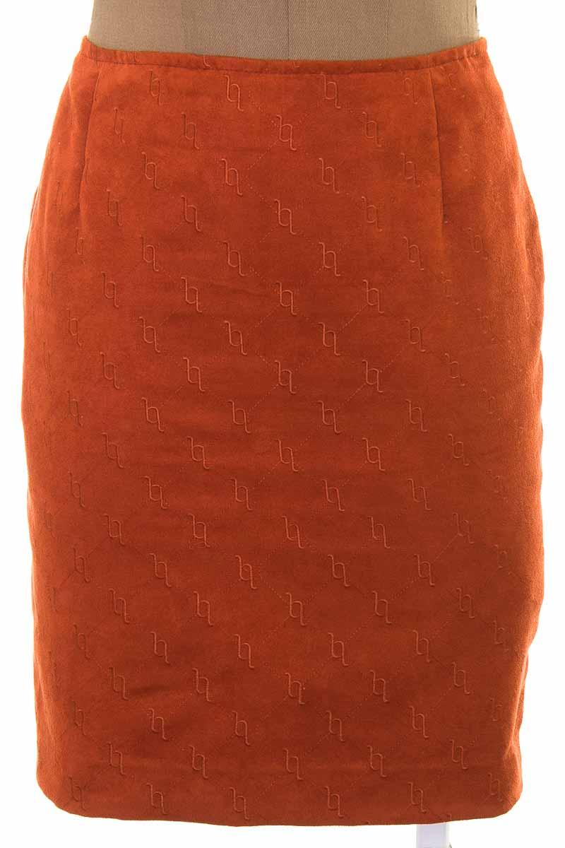 Falda Casual color Naranja - Closeando