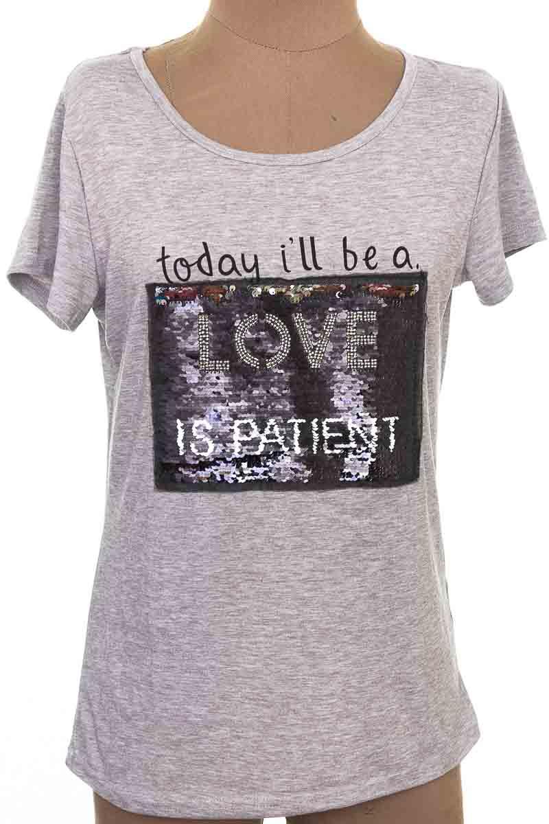 Top / Camiseta color Gris - SUYE
