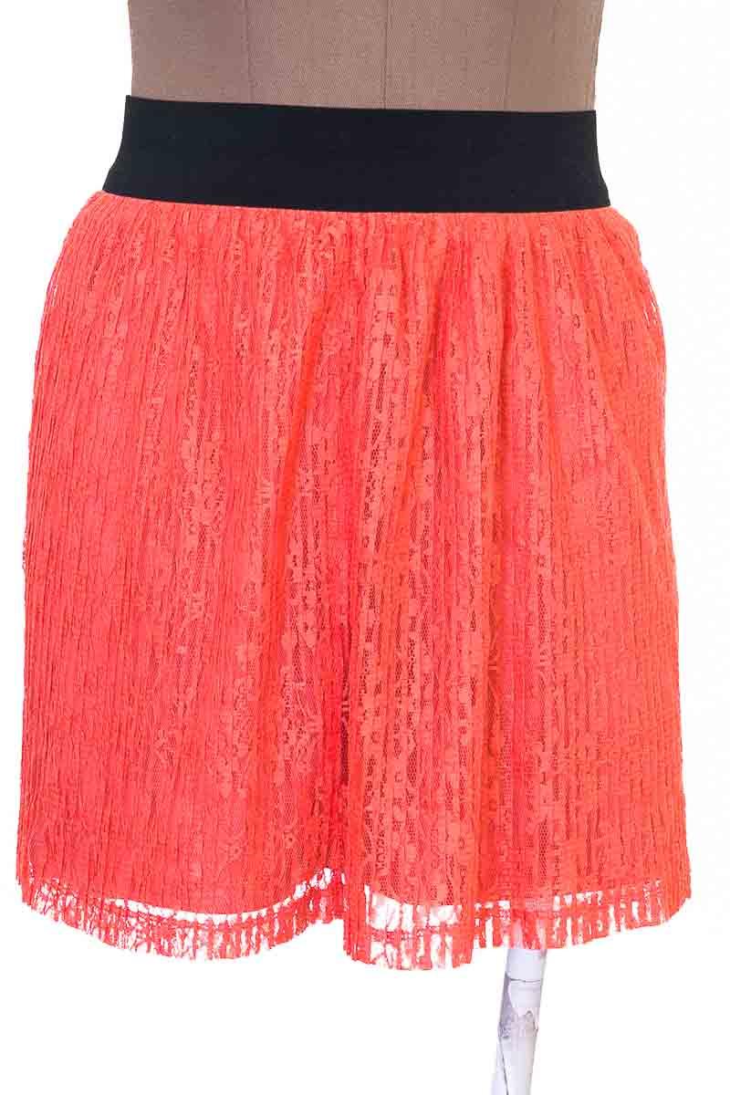 Falda Casual color Naranja - Candie´s