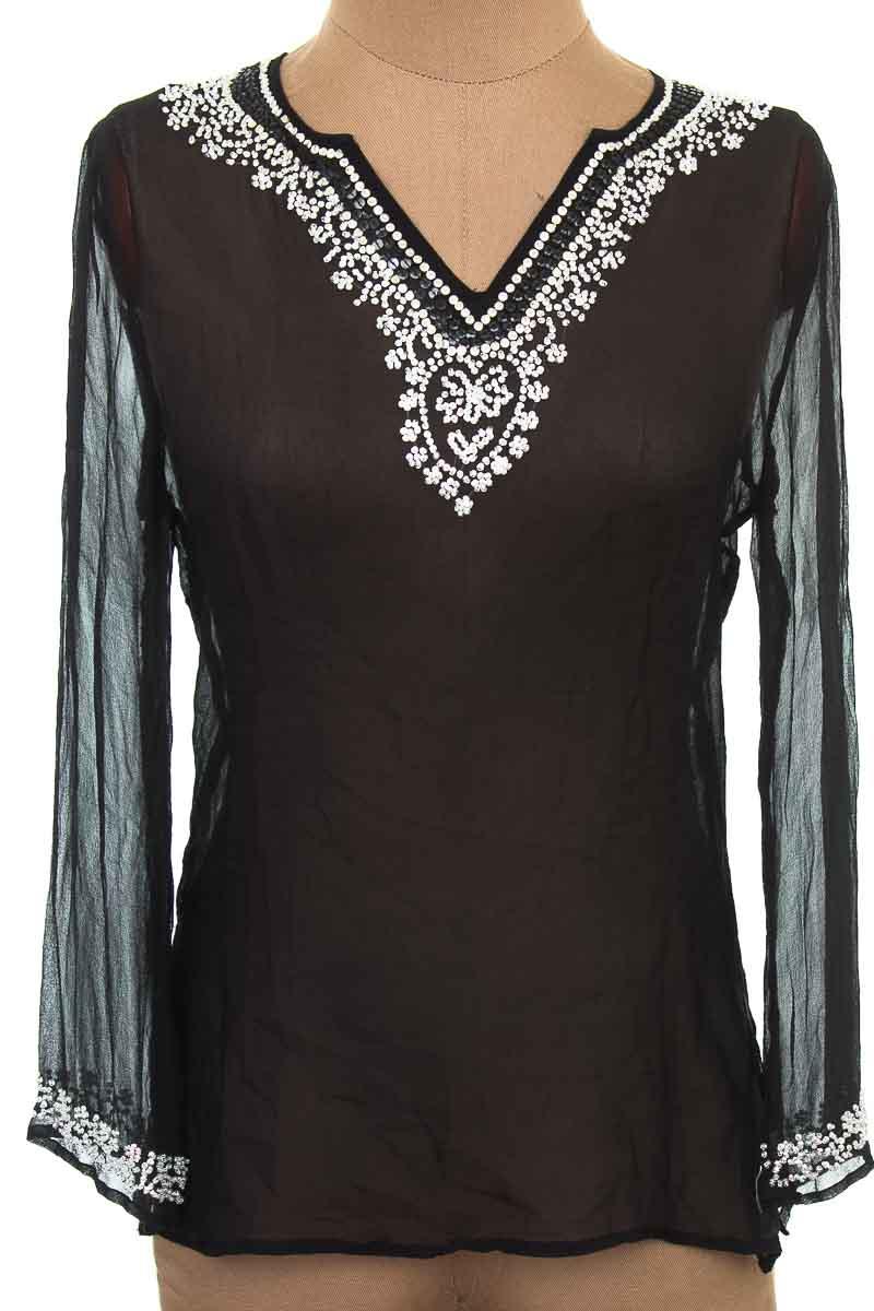 Blusa color Negro - Silkland