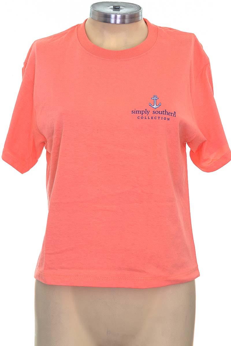Top / Camiseta color Salmón - Simply Southern