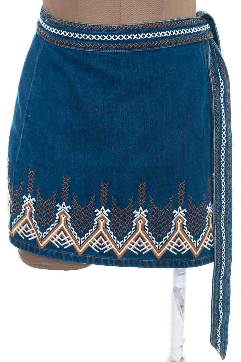 Falda Jean color Azul - Free People
