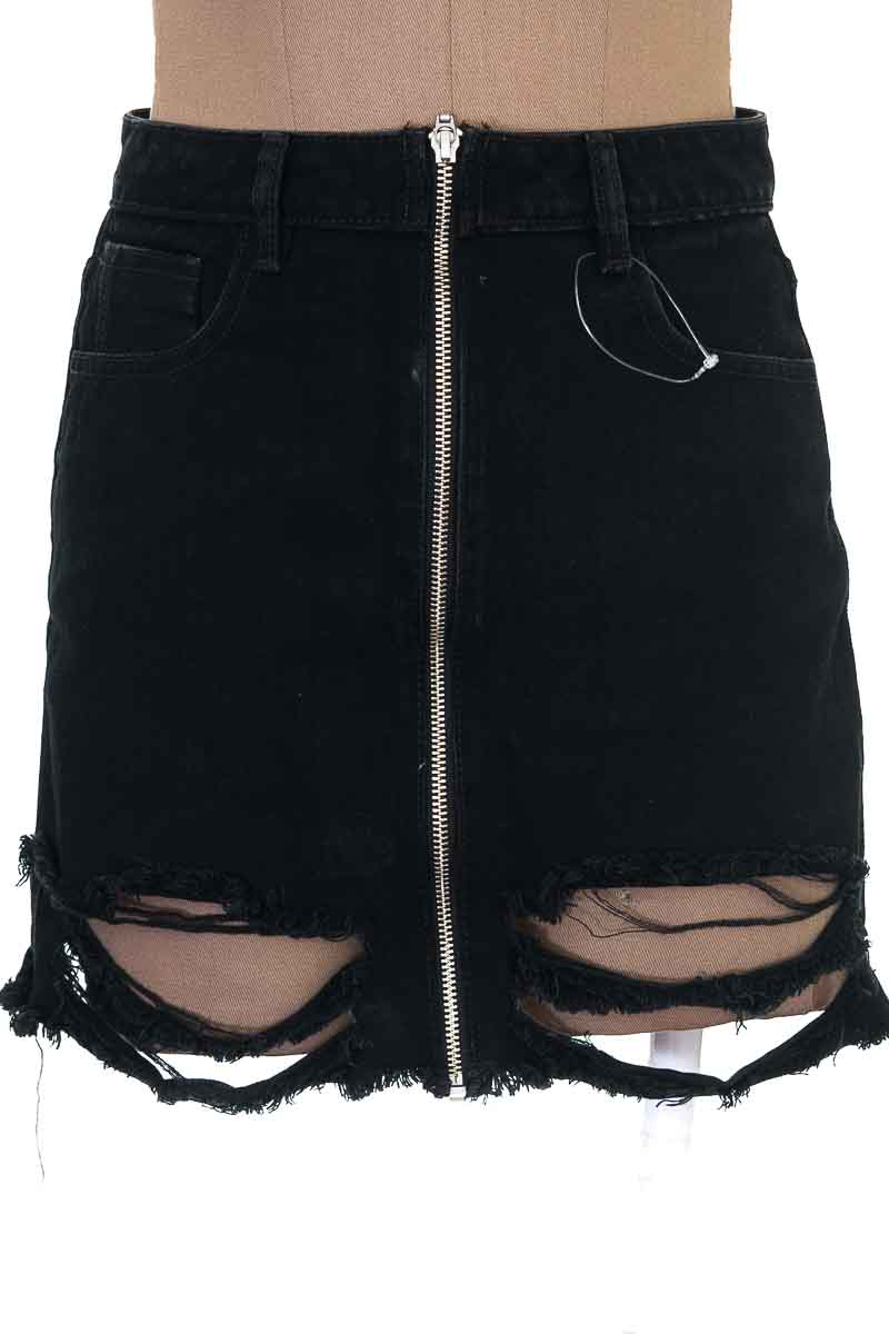 Falda Jean color Negro - Urban Rock