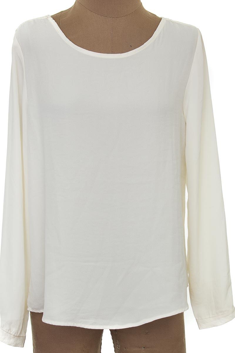 Blusa color Beige - Blanc