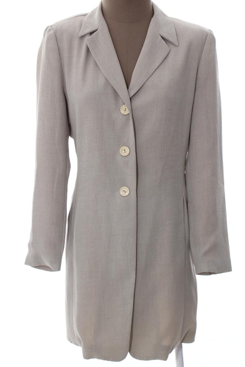 Chaqueta / Abrigo color Beige - Long Paige
