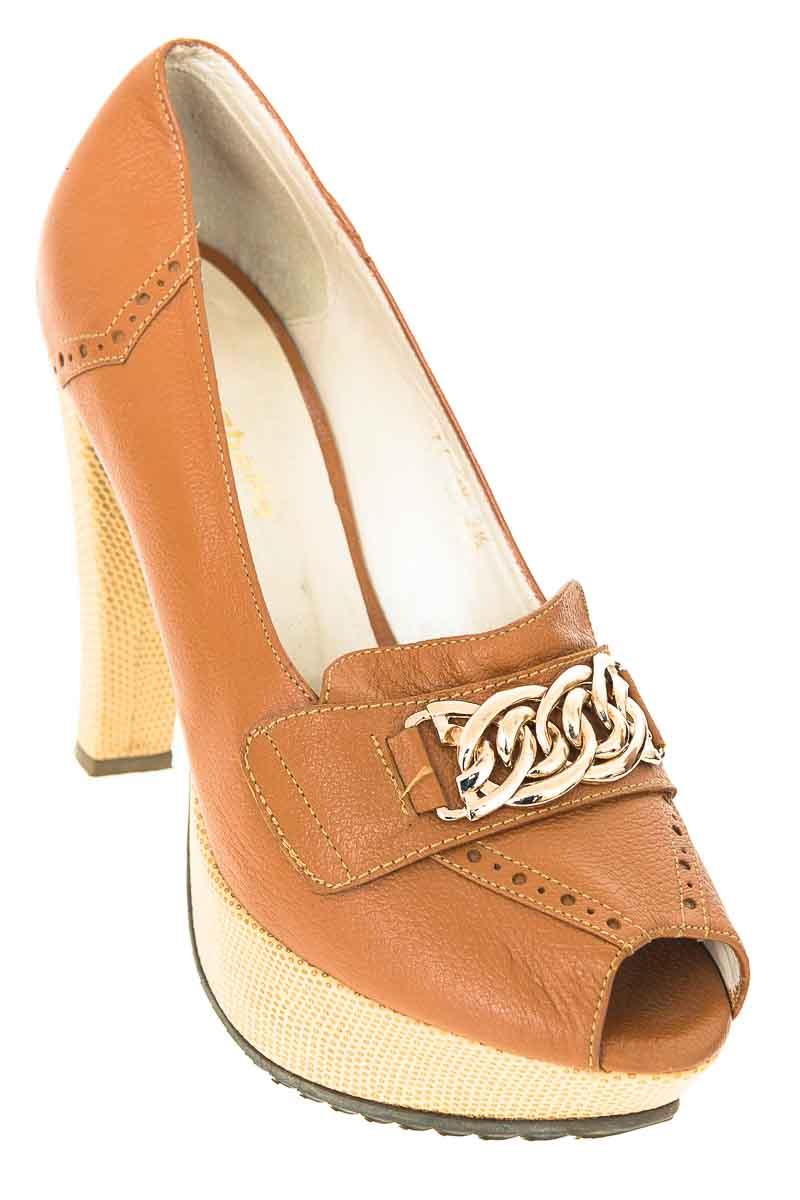Zapatos Tacón color Café - Isabella