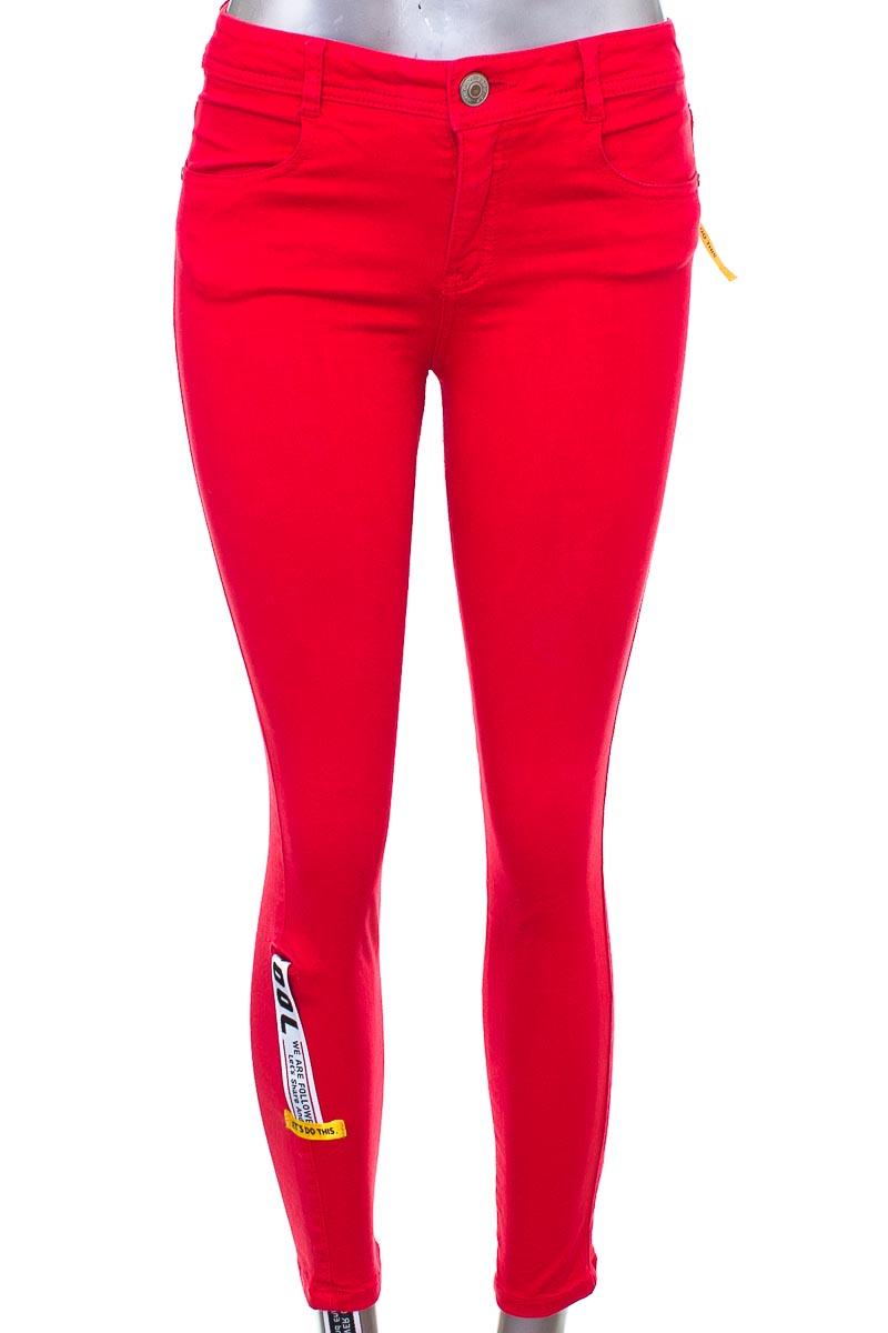 Pantalón Jeans color Rojo - Studio F