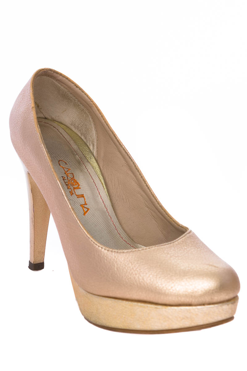 Zapatos Tacón color Dorado - Carolina Aldana