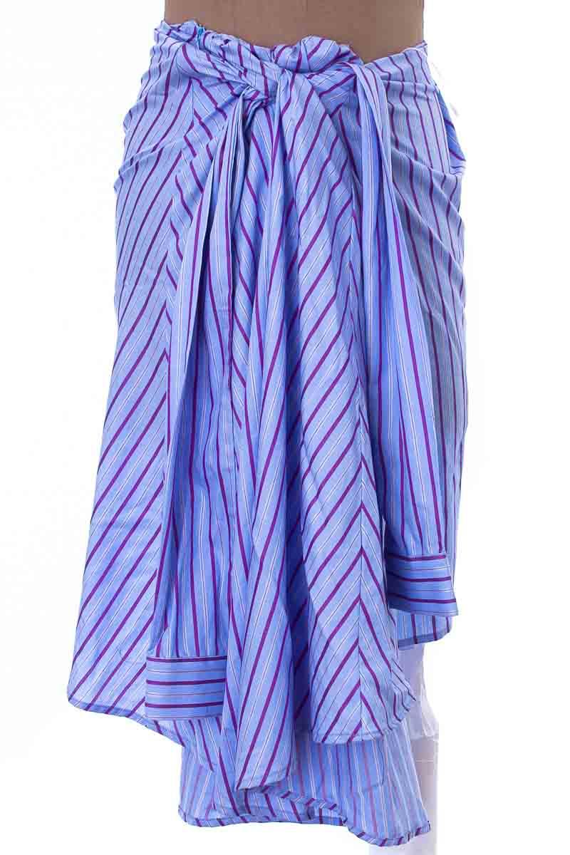 Falda Elegante color Azul - VICTOR DEL PERAL
