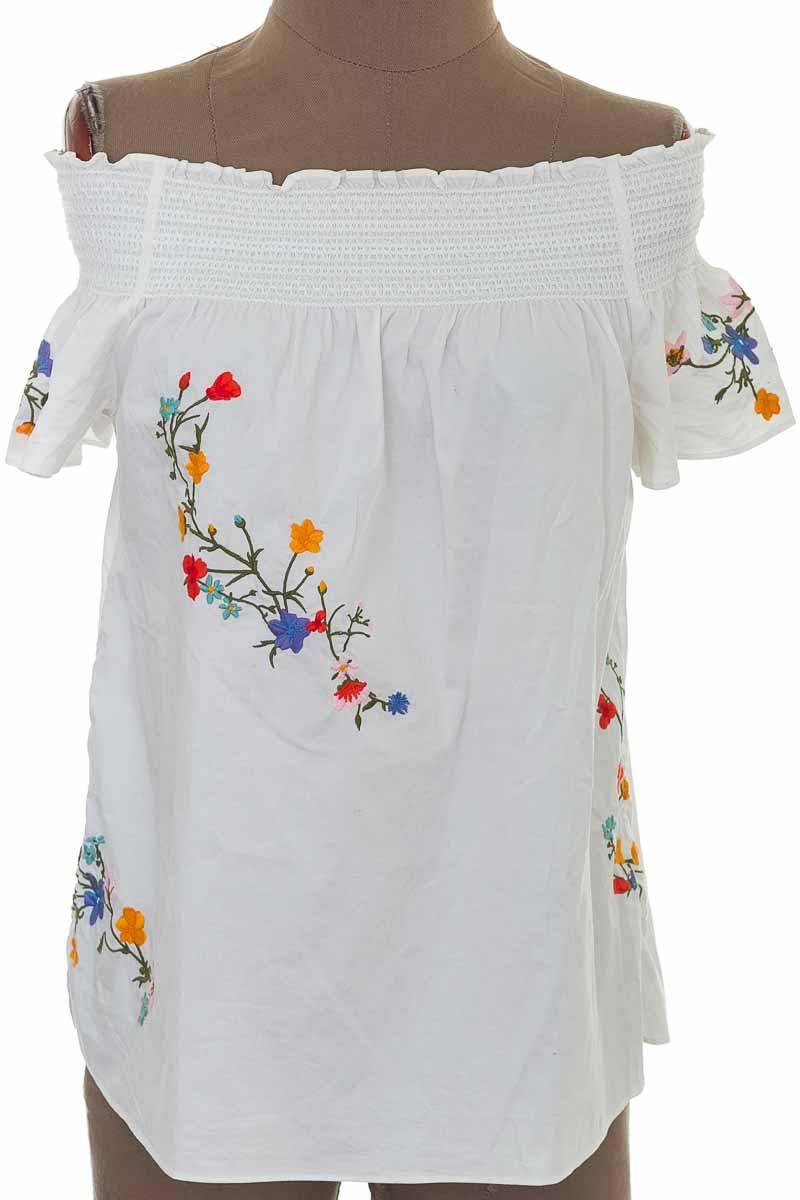 Blusa color Blanco - Tory Burch