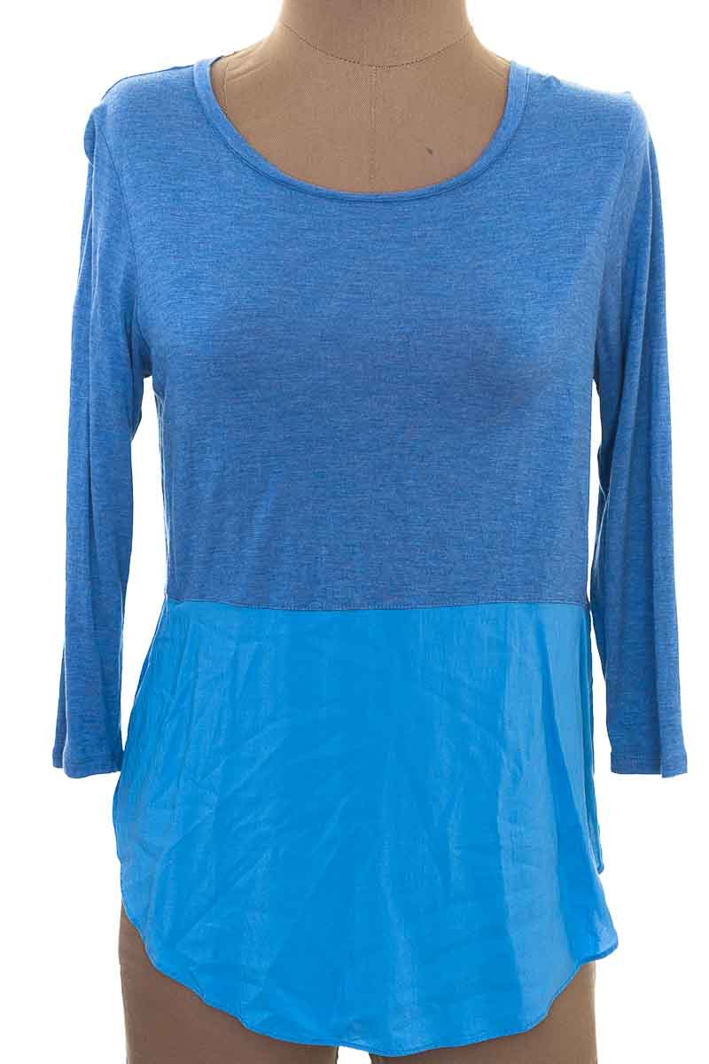 Blusa color Azul - Two by Vince Camuto