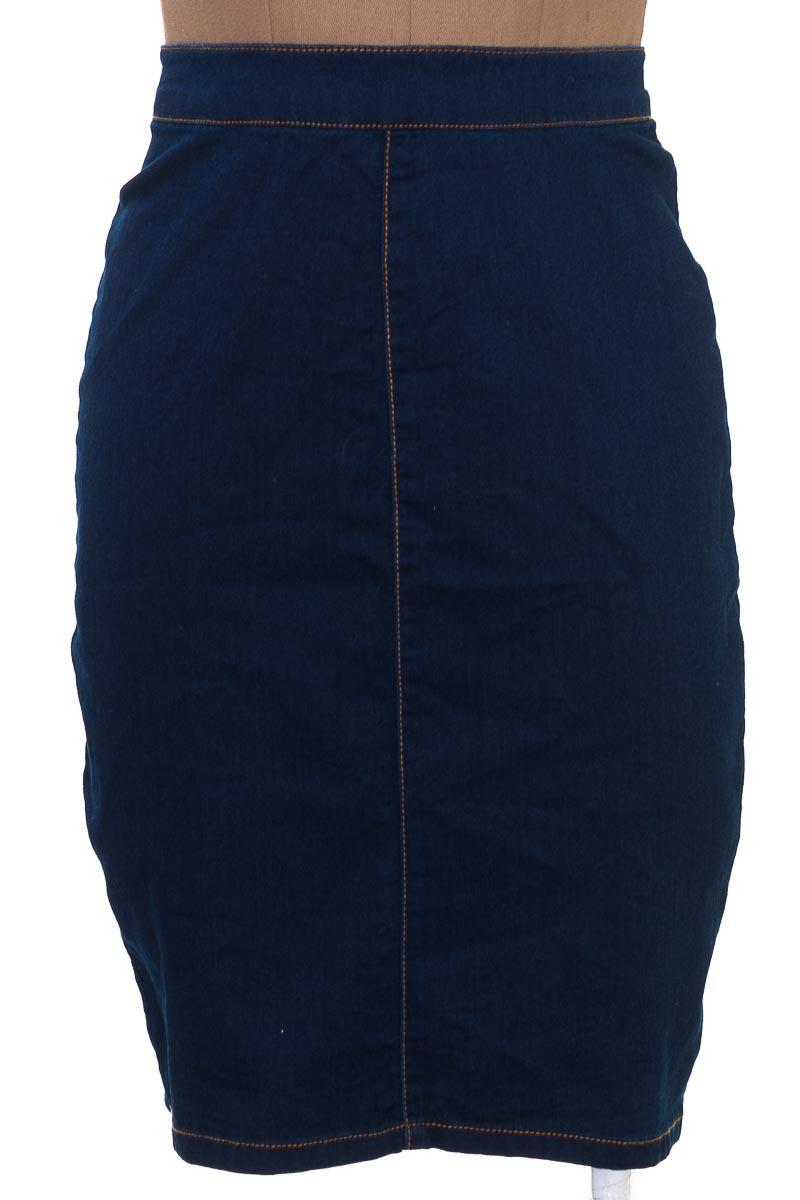Falda Elegante color Azul - Material Girl