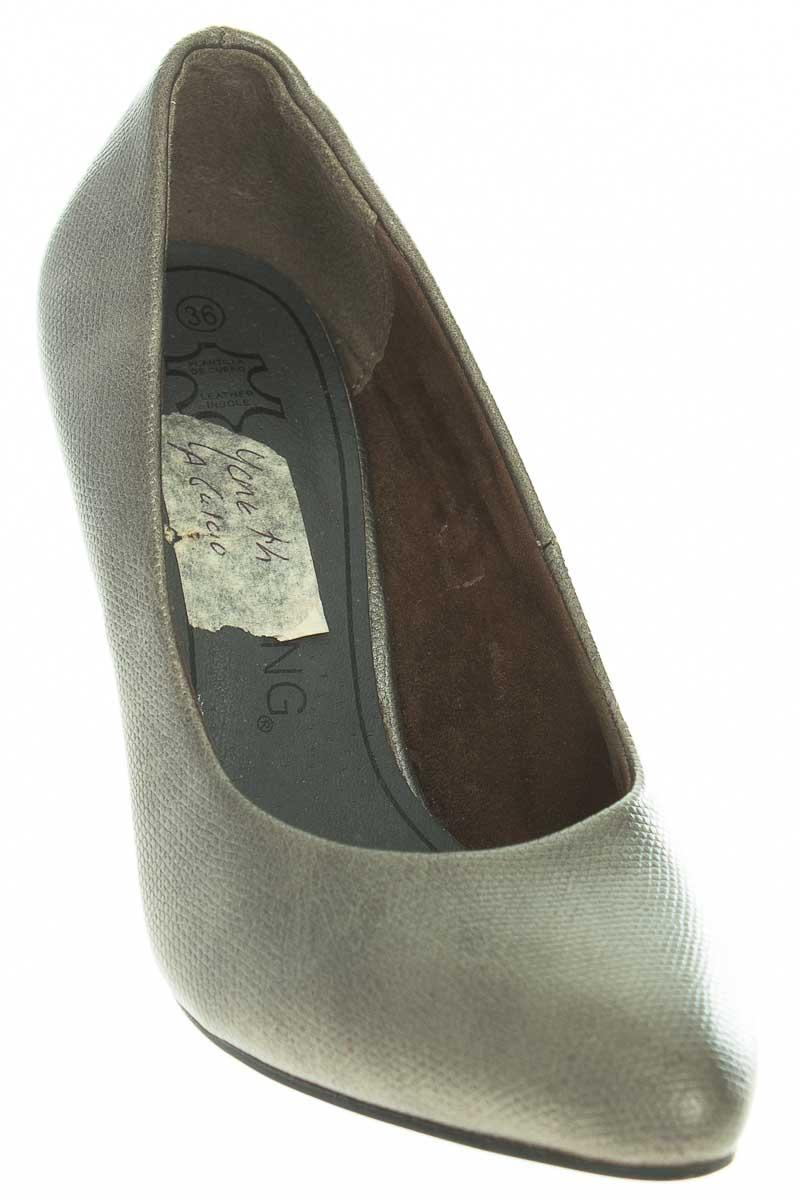 Zapatos Tacón color Gris - Vía Spring