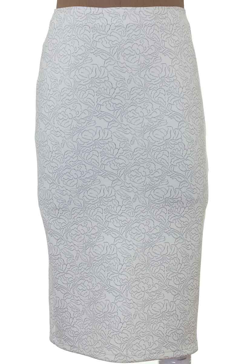 Falda Elegante color Blanco - Seven Seven