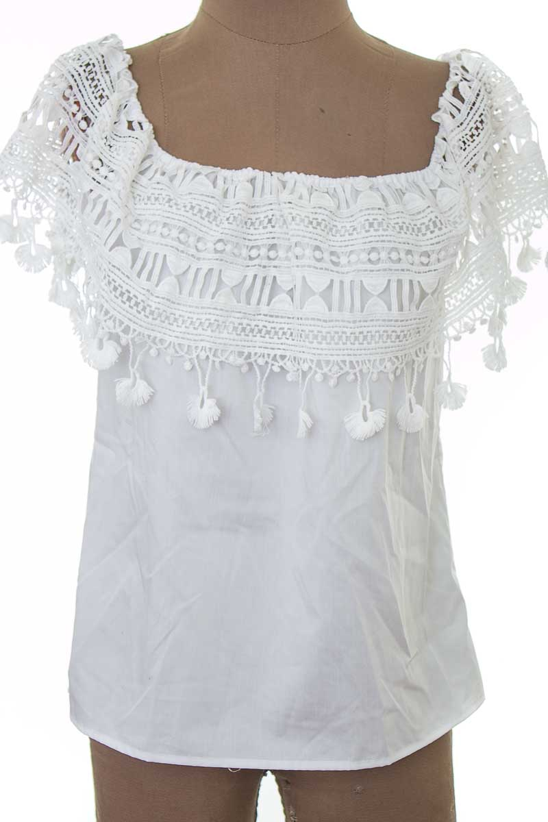 Blusa color Blanco - Guipiu