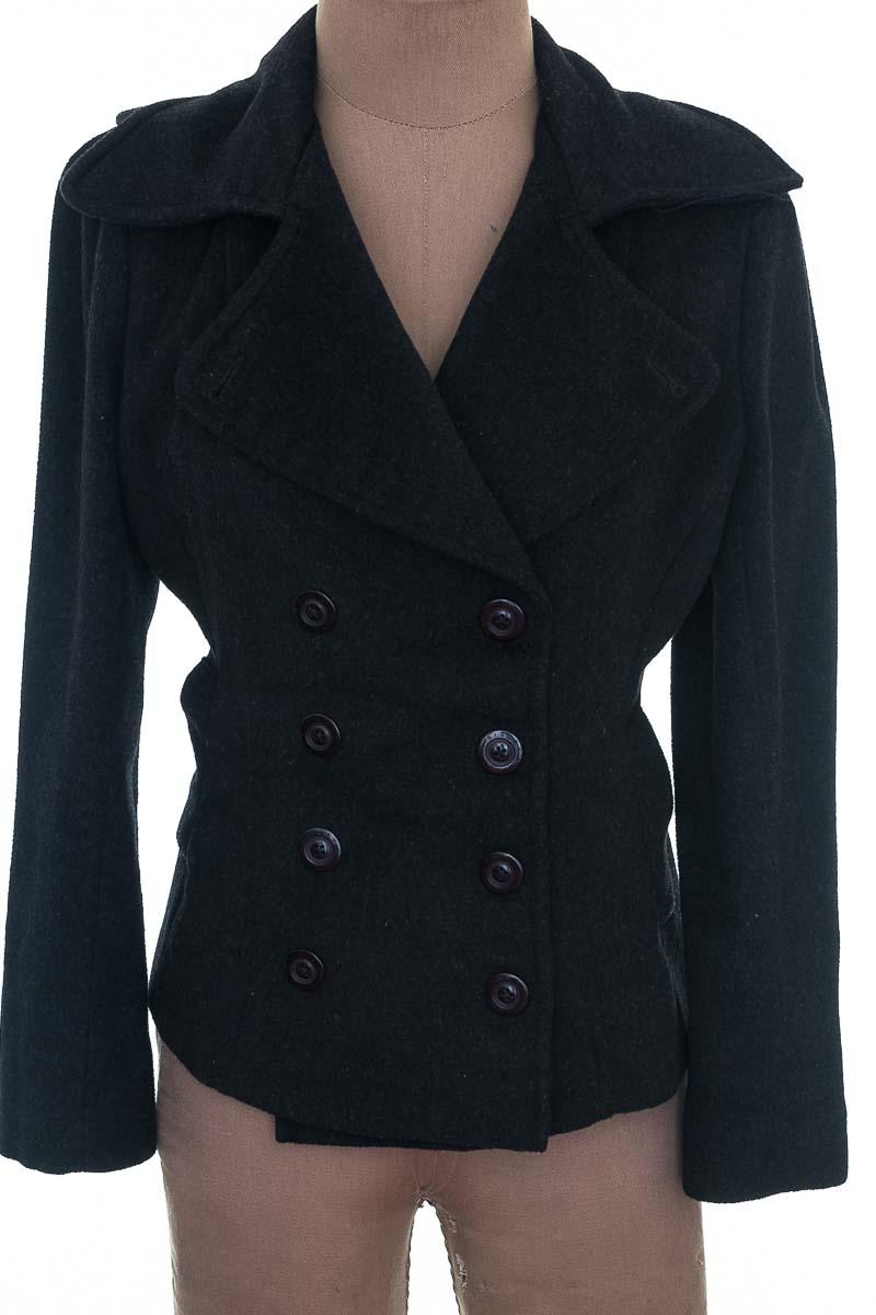 Chaqueta / Abrigo color Negro - Sisley