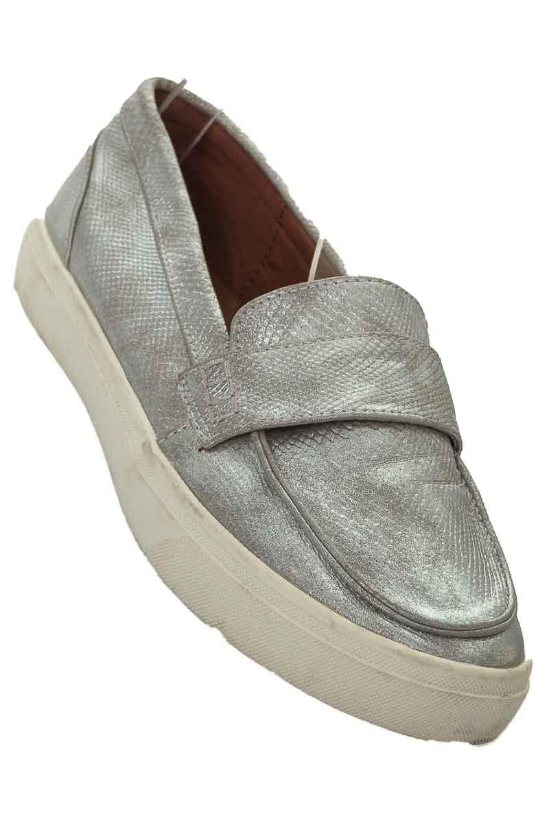 Zapatos Baleta color Plateado - ELA
