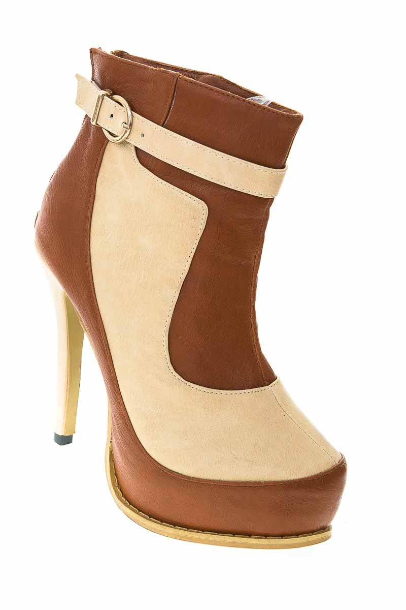 Zapatos Botín color Café - Silvana