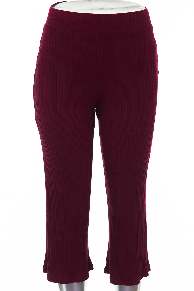 Pantalón Casual color Vinotinto - Bershka