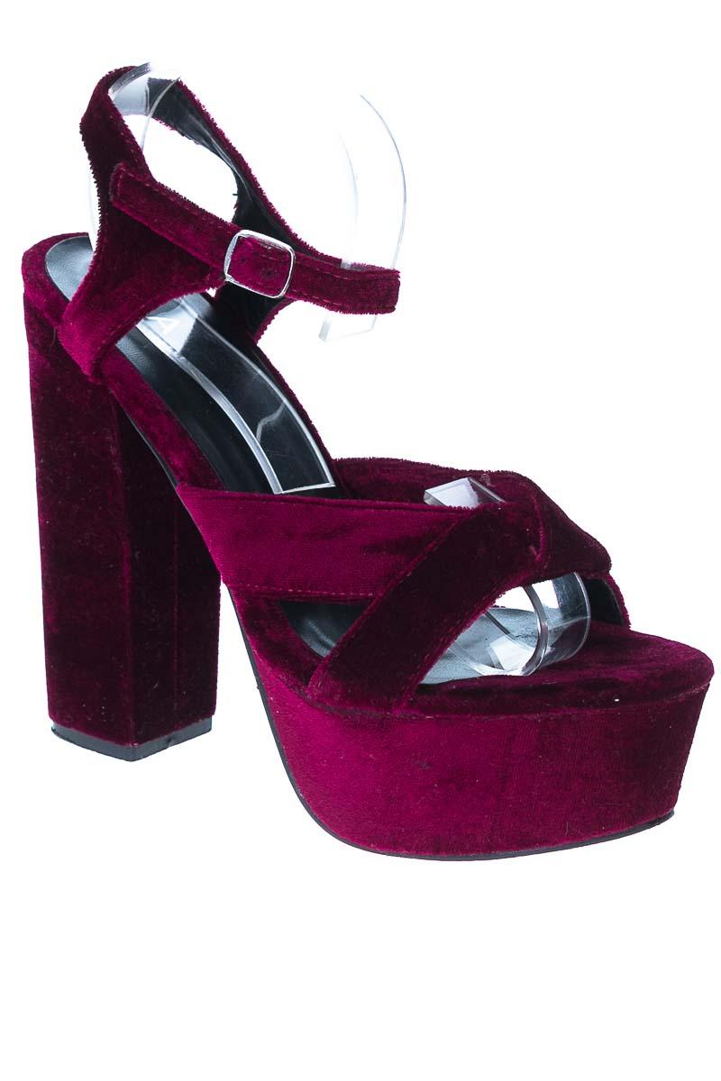 Zapatos Tacón color Vinotinto - ELA