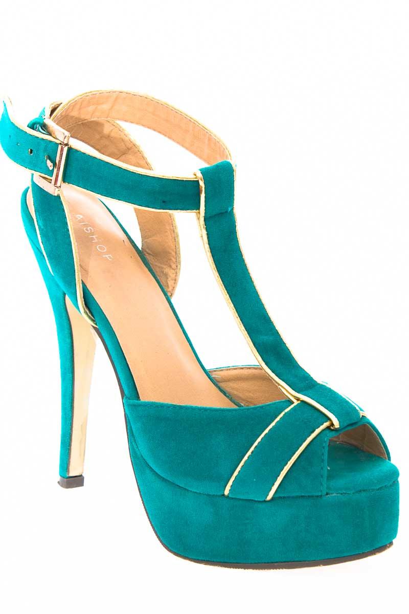 Zapatos Tacón color Verde - Aishop