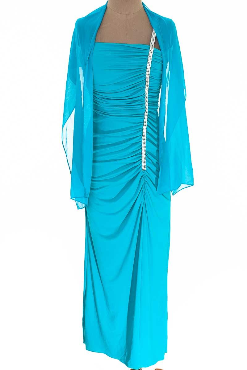 Vestido / Enterizo Fiesta color Azul - Fanny Fashion USA