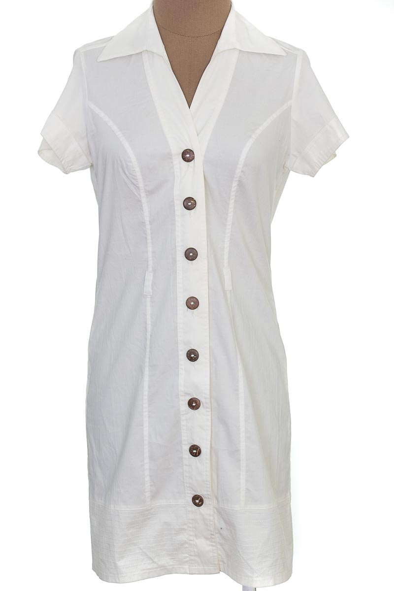 Vestido / Enterizo Casual color Blanco - Leimy