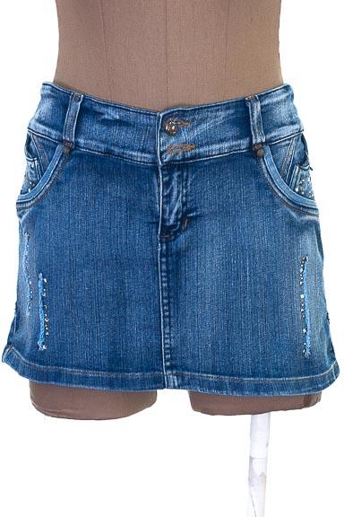Falda Jean color Azul - BK Jeans