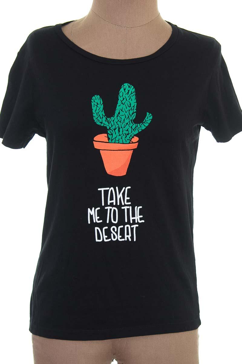Top / Camiseta color Negro - Pull & Bear