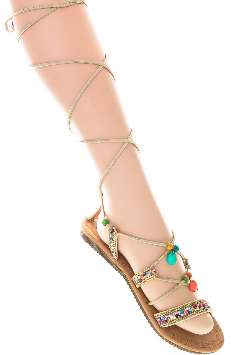 Zapatos Sandalia color Beige - Fresca