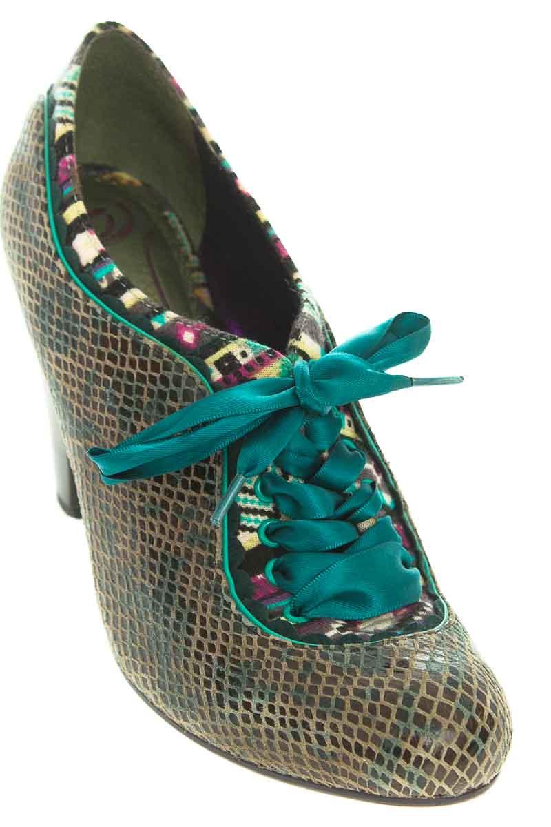 Zapatos Tacón color Verde - Poetia Licence