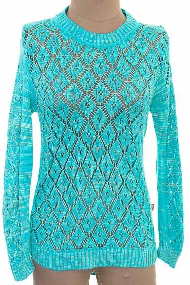 Sweater color Aguamarina - Tejiestilo