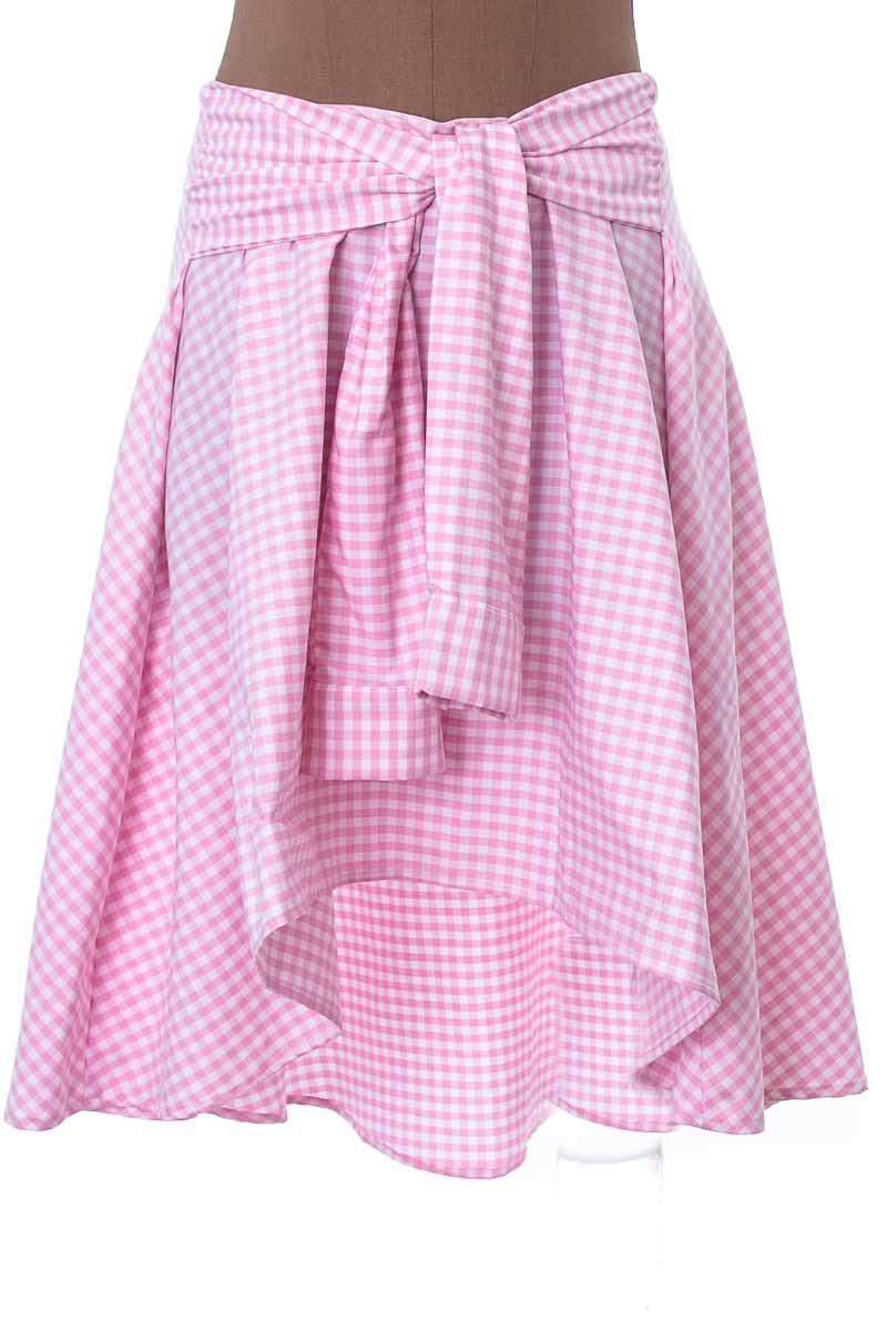Falda Elegante color Rosado - VICTOR DEL PERAL